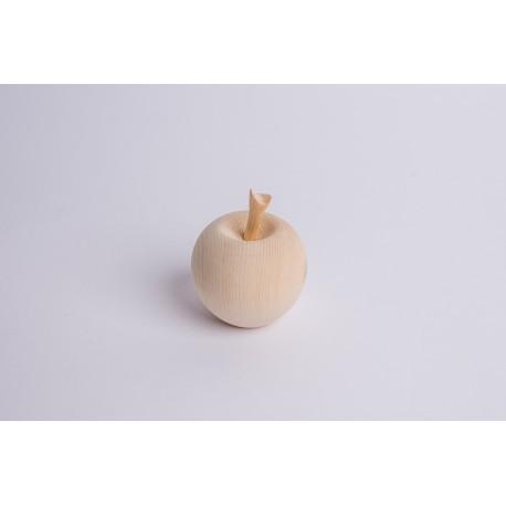 Swiss stone pine wood Apple with Swiss stone pine stem ( 7 cm )