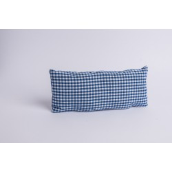Swiss stone pine cushion for neck Check Blue ( 37 cm )