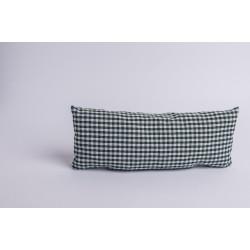 Swiss stone pine cushion for neck Check Dark Green ( 37 cm )
