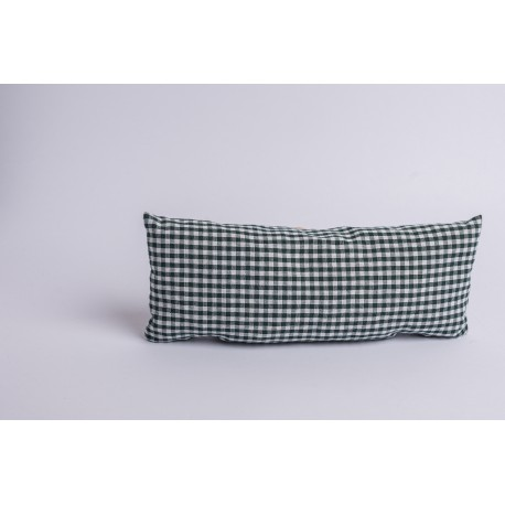 Swiss stone pine cushion for neck Check Dark Green ( 37 cm )