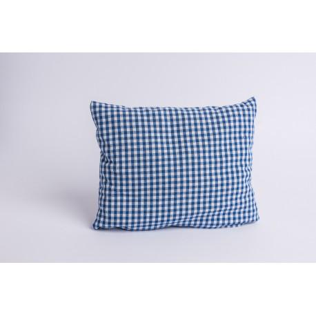 Zirbenkissen Karo Blau ( 25 cm )