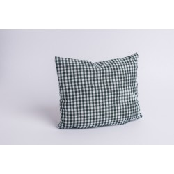 Swiss stone pine cushion Check Dark Green ( 25 cm )