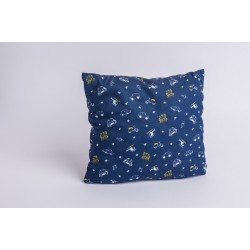 Swiss stone pine cushion children / car ( 25 cm / blue )