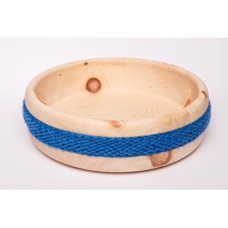Zirbenschale Wolle Gross (Blau)