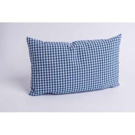 Swiss stone pine cushion Check Blue ( 35 cm )