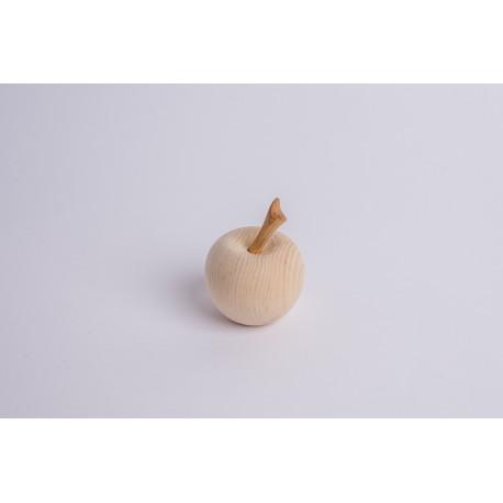 Zirbenholz Apfel mit Kirsch Stängl ( 6 cm )