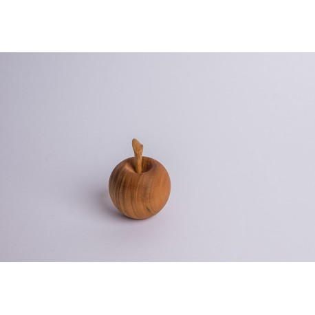 Cherry wood Apple with cherry stem ( 7 cm )