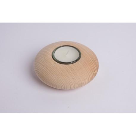 Esche Teelicht Natur ( 10 cm )
