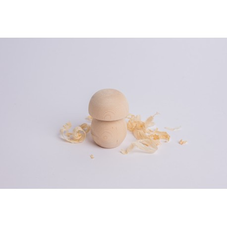 Zirbenholz Pilz ( 7 cm )