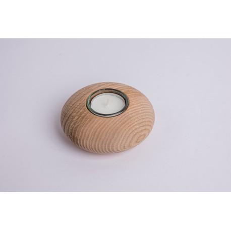Ash wood tealight Natur / oiled ( 10 cm )