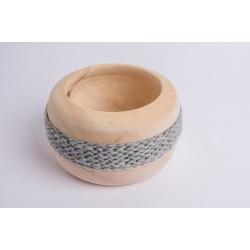 Zirbenschale Wolle Coco (Grau)