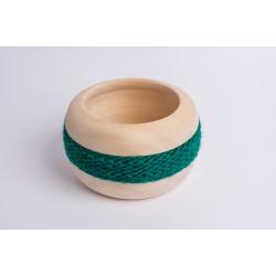 Zirbenschale Wolle Coco (Dunkelgrün)