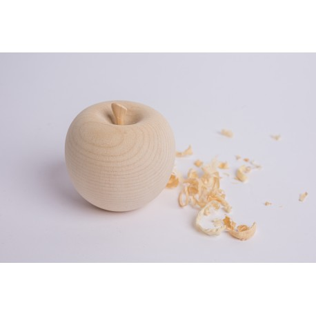Zirbenholz Apfel mit Zirbe Kurzer Stängel  ( 8,5 cm )