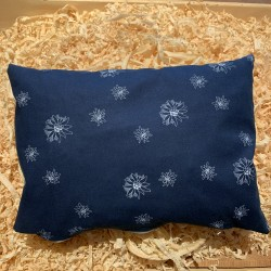 Swiss stone pine cushion Edelweiß  ( 34 cm / blue )