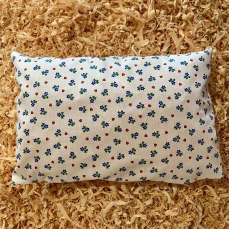 Swiss stone pine cushion Heart flower white  (30 cm)