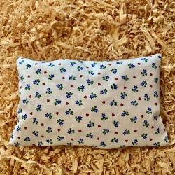 Cuscino di pino cembro Cuore Fiore Bianco  ( 25/15 cm)