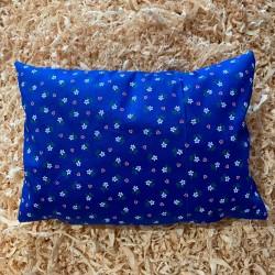 Zirbenkissen Herzblume Blau (35 cm)