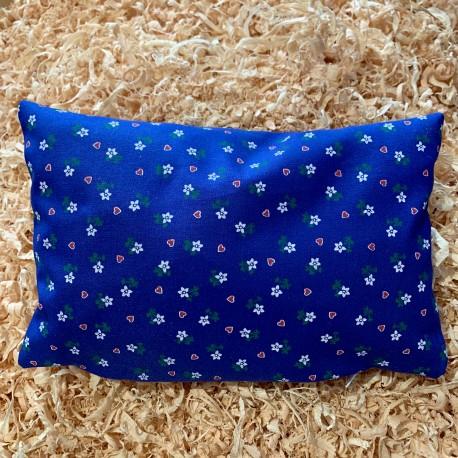 Swiss stone pine cushion Heart flower blue (25 cm)