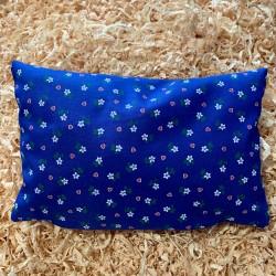 Zirbenkissen Herzblume Blau (25/15 cm)