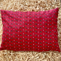 Zirbenkissen Herz Rot (30 cm)