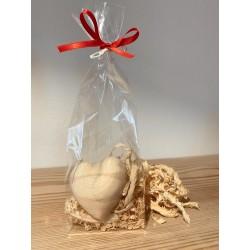 1 x Zirbenholz  (6 cm) Herz Gross Verpackt mit Zirben Späne
