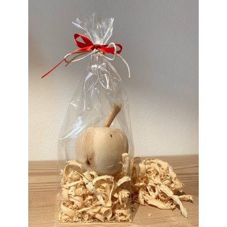 1 x Apple (6 cm) from Swiss stone pine Packed with Swiss stone pine shavings