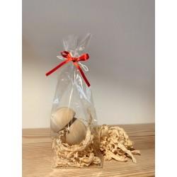 1 x Mushroom (7 cm) from Swiss stone pine Packed with Swiss stone pine shavings