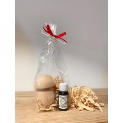 1 x Mushroom (7 cm) in Swiss stone pine wood & 1 x Kurt Art Premium Swiss stone pine oil
