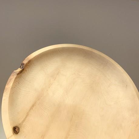 Swiss stone pine fruit bowl plate (38cm)