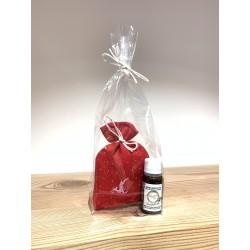 1 x Zirben Duft Säckchen Rot (10 cm) & 1 x Kurt Art Premium Zirben Öl