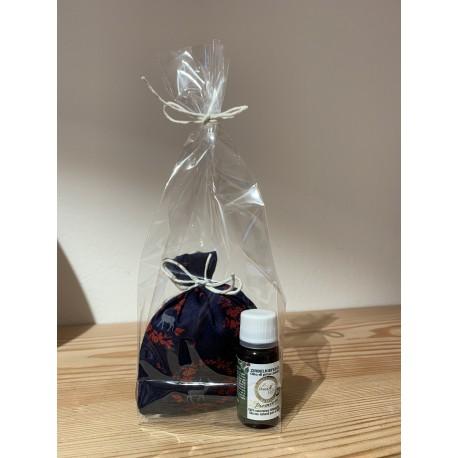 1 x Swiss stone pine fragrance sachet red (10 cm) & 1 x Kurt Art Premium Swiss stone pine oil