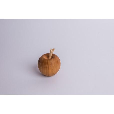 Kirschholz Apfel mit Zirbe Stängel  (6 cm)