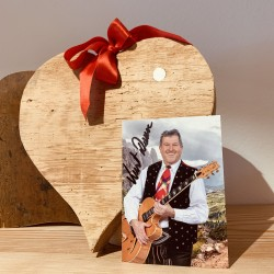 Heart spruce old wood (25 cm) with Autogramm