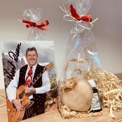 1 x Zirbenholz Herz  & 1 x Kurt Art Premium Zirben Öl
