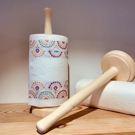 Fichte / Zirben Holz Küchenrollenhalter (Handgemacht & Massivholz)