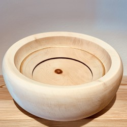 - The Golden Ring of Life -  Swiss stone pine bowl - (29 cm) *Limited Edition*