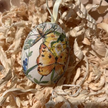 1 x Handgeblasene & gefärbte Oster Ei mit Schleife