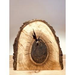 Kurt Art Stand wooden clock / walnut from Castelrotto