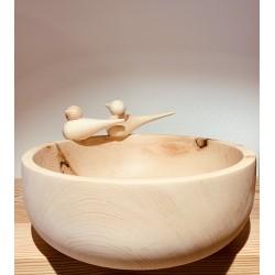 Kurt Art SPATZ ciotola di pino cembro / (21 cm)