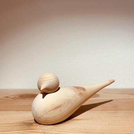 Kurt Art SPATZ / Swiss pine wood (14/15 cm) Orig. Handmade