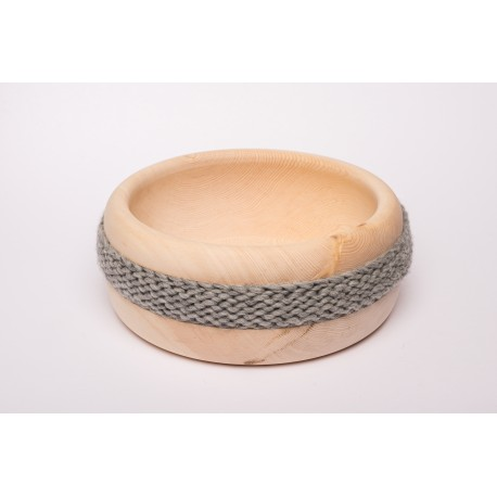 Zirbenschale Wolle Mittel (Grau)