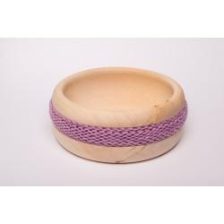 Zirbenschale Wolle Mittel (Lila)