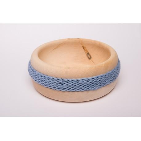 Zirbenschale Wolle Mittel (Himmelblau)