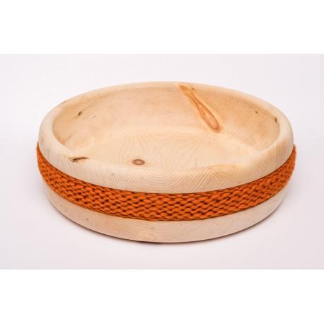 Zirbenschale Wolle Gross (Orange)