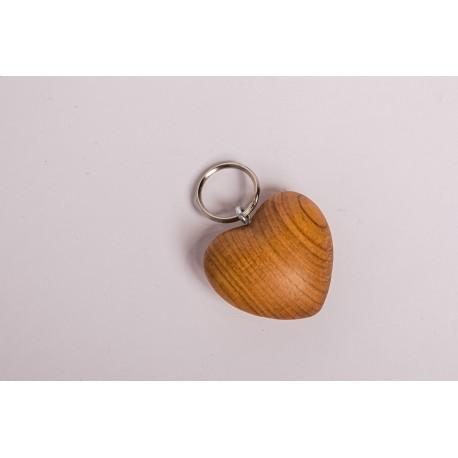 Kirsch Holz Herz Schlüsselanhänger