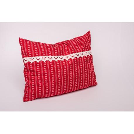 Zirbenkissen Premium Tracht mit Spitze ( 30/Rot )