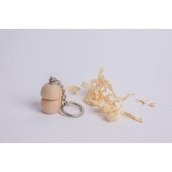 Zirbenholz Pilz Schlüsselanhänger