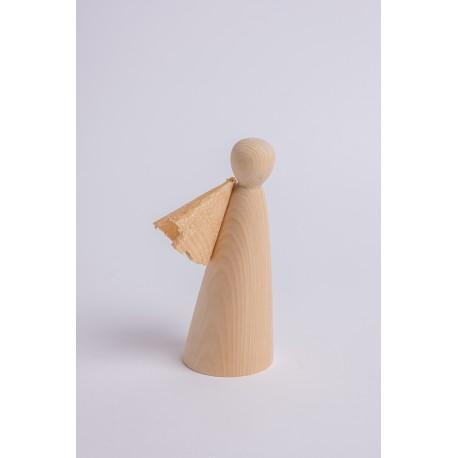 Angelo di pino cembro con ali di trucioli ( 13 cm )