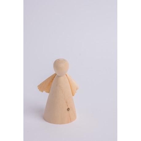 Swiss stone pine angel with shavings wings ( 9 cm )